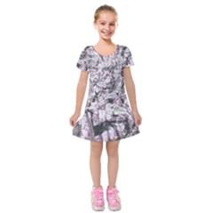 Pattern Kids  Short Sleeve Velvet Dress