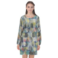 Misc Brushes     Long Sleeve Chiffon Shift Dress