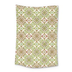 Colorful Stylized Floral Boho Small Tapestry