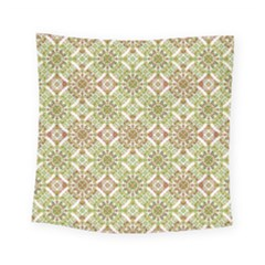 Colorful Stylized Floral Boho Square Tapestry (small)
