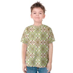 Colorful Stylized Floral Boho Kids  Cotton Tee