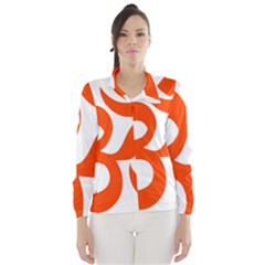 Hindu Om Symbol (orange) Wind Breaker (women)