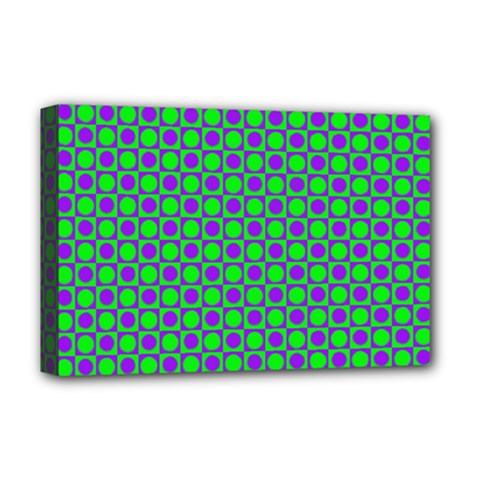 Friendly Retro Pattern A Deluxe Canvas 18  x 12