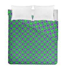 Friendly Retro Pattern A Duvet Cover Double Side (Full/ Double Size)