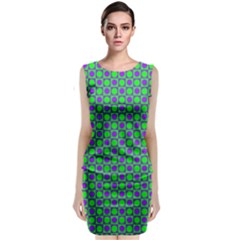 Friendly Retro Pattern A Classic Sleeveless Midi Dress