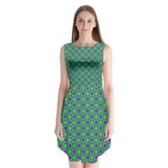 Friendly Retro Pattern A Sleeveless Chiffon Dress