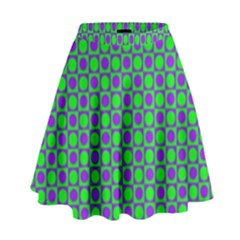 Friendly Retro Pattern A High Waist Skirt