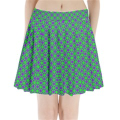 Friendly Retro Pattern A Pleated Mini Skirt