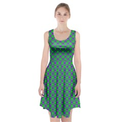 Friendly Retro Pattern A Racerback Midi Dress