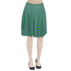 Friendly Retro Pattern A Pleated Skirt