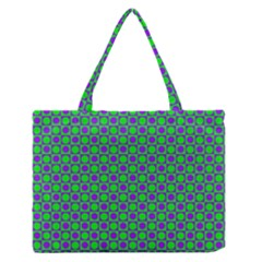 Friendly Retro Pattern A Medium Zipper Tote Bag