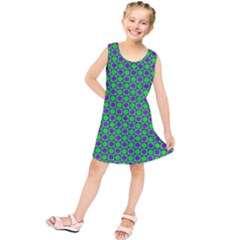 Friendly Retro Pattern A Kids  Tunic Dress
