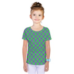 Friendly Retro Pattern A Kids  One Piece Tee