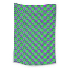 Friendly Retro Pattern A Large Tapestry