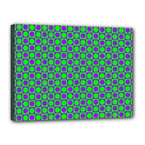 Friendly Retro Pattern A Canvas 16  x 12