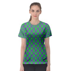 Friendly Retro Pattern A Women s Sport Mesh Tee