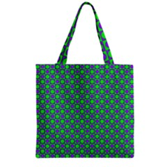 Friendly Retro Pattern A Grocery Tote Bag
