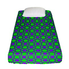 Friendly Retro Pattern A Fitted Sheet (Single Size)