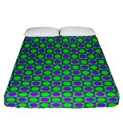 Friendly Retro Pattern A Fitted Sheet (Queen Size)