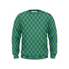 Friendly Retro Pattern A Kids  Sweatshirt