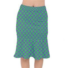 Friendly Retro Pattern A Mermaid Skirt