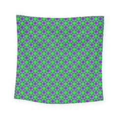 Friendly Retro Pattern A Square Tapestry (small)