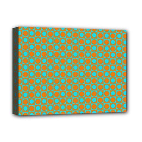 Friendly Retro Pattern D Deluxe Canvas 16  x 12