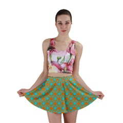 Friendly Retro Pattern D Mini Skirt