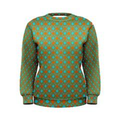 Friendly Retro Pattern D Women s Sweatshirt