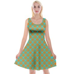 Friendly Retro Pattern D Reversible Velvet Sleeveless Dress