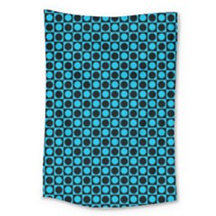 Friendly Retro Pattern E Large Tapestry