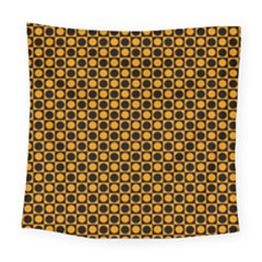 Friendly Retro Pattern F Square Tapestry (large)