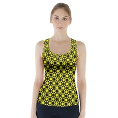 Friendly Retro Pattern I Racer Back Sports Top