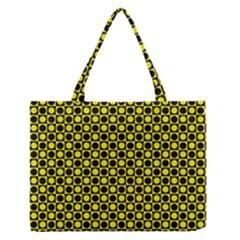 Friendly Retro Pattern I Medium Zipper Tote Bag