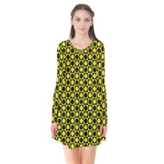 Friendly Retro Pattern I Flare Dress