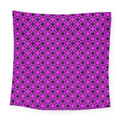 Friendly Retro Pattern G Square Tapestry (large)
