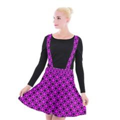 Friendly Retro Pattern G Suspender Skater Skirt