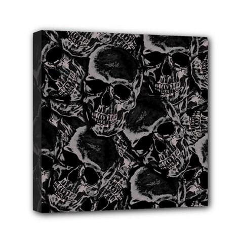 Skulls Pattern Mini Canvas 6  X 6