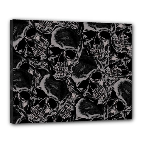 Skulls Pattern Canvas 20  X 16