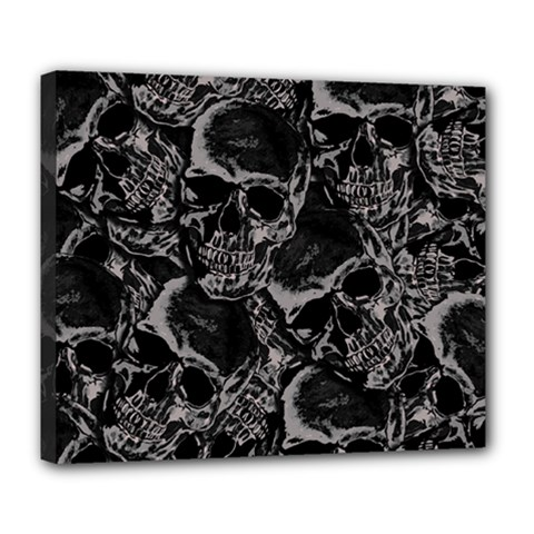Skulls Pattern Deluxe Canvas 24  X 20