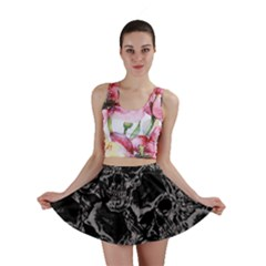 Skulls pattern Mini Skirt