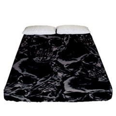 Skulls Pattern Fitted Sheet (queen Size)