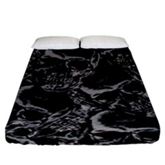 Skulls Pattern Fitted Sheet (king Size)