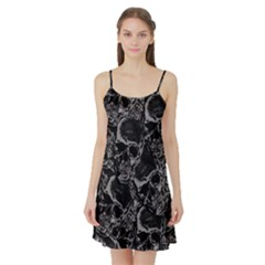 Skulls Pattern Satin Night Slip