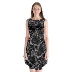 Skulls Pattern Sleeveless Chiffon Dress