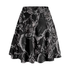 Skulls Pattern High Waist Skirt
