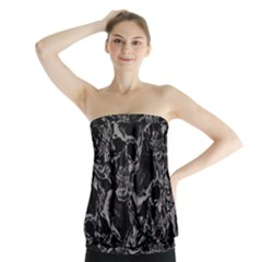 Skulls Pattern Strapless Top