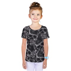 Skulls Pattern Kids  One Piece Tee