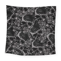 Skulls Pattern Square Tapestry (large)