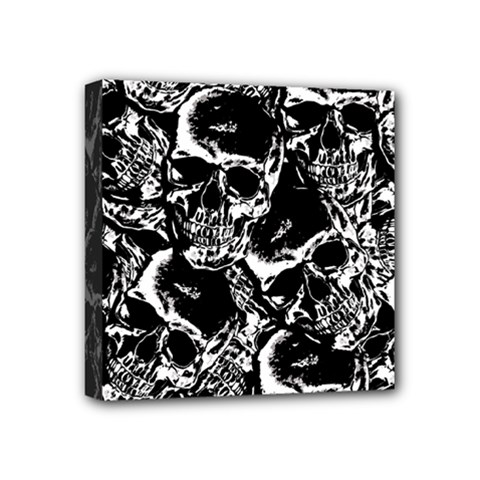 Skulls Pattern Mini Canvas 4  X 4